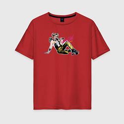 Футболка оверсайз женская Harley Quinn цвета красный — фото 1
