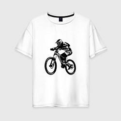 Футболка оверсайз женская Велоспорт Z цвета белый — фото 1