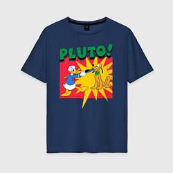 Футболка длинная женская Pluto! - фото 1