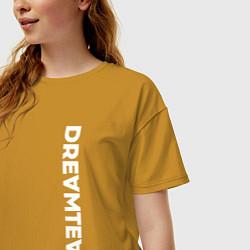 Футболка оверсайз женская DreamTeam цвета горчичный — фото 2