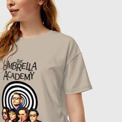 Футболка оверсайз женская Академия Амбрелла цвета миндальный — фото 2