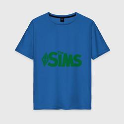 Футболка оверсайз женская Sims цвета синий — фото 1