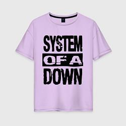 Футболка оверсайз женская System Of A Down цвета лаванда — фото 1