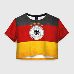 Футболка 3D укороченная женская Сборная Германии цвета 3D-принт — фото 1