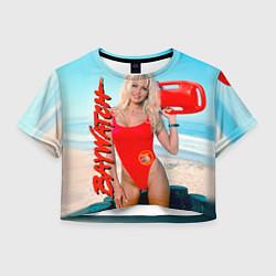 Футболка 3D укороченная женская Baywatch: Pamela Anderson цвета 3D-принт — фото 1