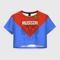 Женский топ Russia Red & Blue