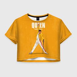 Футболка 3D укороченная женская Queen цвета 3D-принт — фото 1