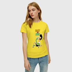 Футболка хлопковая женская Sanjay and Craig цвета желтый — фото 2
