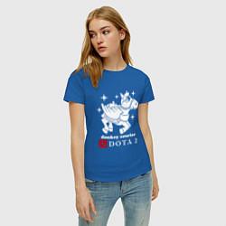 Футболка хлопковая женская Dota 2: Donkey courier цвета синий — фото 2