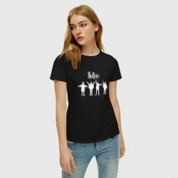 Футболка хлопковая женская Beatles цвета черный — фото 2