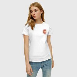 Футболка хлопковая женская Westworld Logo цвета белый — фото 2